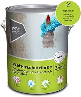 Alpholz Wetterschutzfarbe Nussbraun| 2,5 l Holzschutzfarbe für ca. 12,5 m² |Holzfarbe für Außenbereich | Lösemittelfreie Schutzfarbe für Holz | Andere Farbtöne verfügbar