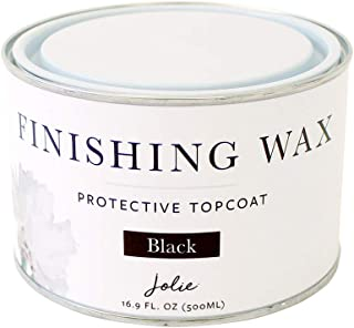 Jolie Finishing Wax - Protective Topcoat for Jolie Paint - Use on Interior Furniture, cabinets, Walls, Home Decor and Accessories - Odor-Free, Non-Hazardous - Black - 500 ml