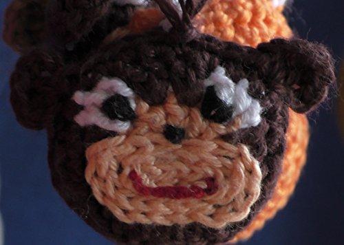 Affe Baumler iPhone Anhänger Taschenanhänger Schlüsselanhänger handmade NEU Tiere Häkelblumen Häkeln Basteln