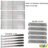 bbq factory Replacement Jenn-Air 720-0727,720-0709 ,720-0709B, 5 Burner Gas BBQ Grill Replacement Kit Stainless Steel Burner, Stainless Steel Heat Plate, Stainless Steel Cooking Grid