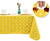 Rally Home Goods Indoor Outdoor Patio Vinyl Rectangular Tablecloth, Flannel Backed, Spill Proof...