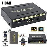 Accrie HDMI zu HDMI und optischer SPDIF RCA Analog Audio Extractor Konverter Splitter 1080P