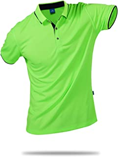 Unisex Casual Classic Solid Color Polo Shirts Short Sleeve Quick-Dry T-Shirt