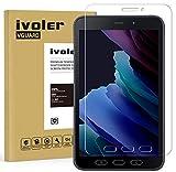 ivoler Panzerglas Schutzfolie für Samsung Galaxy Tab Active 2 8.0 Zoll, 9H Festigkeit Panzerglasfolie, Anti-Kratzen Folie, Anti-Bläschen Bildschirmschutzfolie, Hülle fre&lich