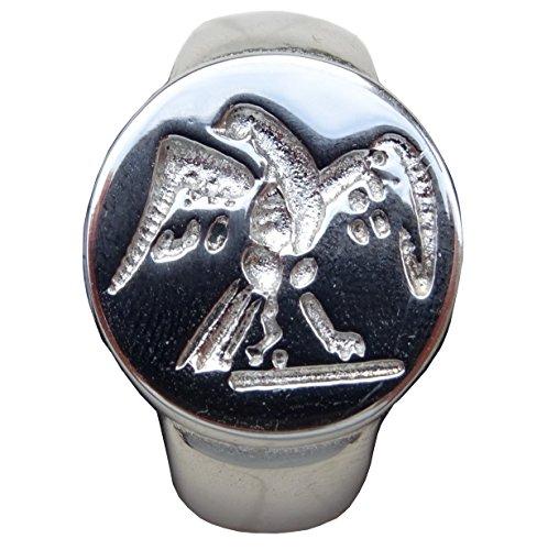 Schöner Ring Siegel Adler Römische Legion Größe 68 Silber-Finish