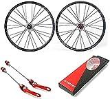ZSY Ruedas Placa de Ruedas de Bicicleta de montaña de 27.5 Pulgadas, Ruedas de Bicicleta de Fibra de Carbono ultrales (Color : 26in)