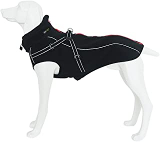 Petsoigné Dog Jackets with Harness Warm Dog Coats Waterproof for Medium and Large Dogs with Reflective Band