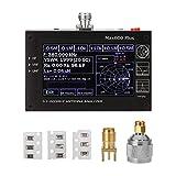 QuRRong Analizador de Antena Analizador de Antena UHF HF VHF UHF 0.1-600MHz con Pantalla táctil TFT LCD de 4.3'TFT para Uso en Exteriores (Color : Black, Size : One Size)