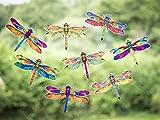Stickers4 Libellen-Fensteraufkleber zum Schutz gegen Vogelschlag - 8 schöne Libellen-Glasaufkleber, doppelseitig & selbstklebend zum Schutz gegen Vogelkollisionen