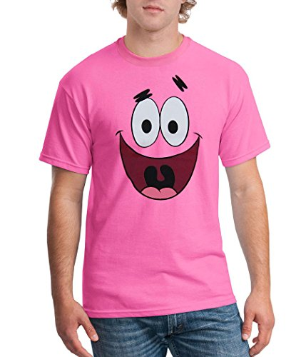 Spongebob Squarepants Patrick Star Face T-Shirt-XXX-Large Hot Pink - http://coolthings.us