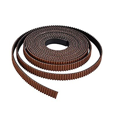 PoPprint GT2 Timing Belt 6mm Width Rubber Open Timing Belt Wear resistant Nylon Tooth Surface 3D Printer Parts (5 meters)