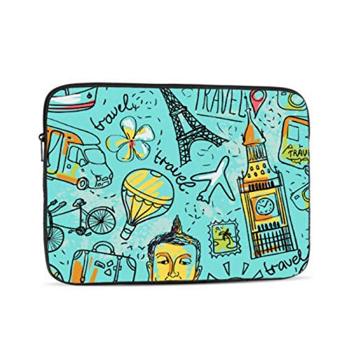 Mac Book Covers Creative Colorful Art World Map Mac Air Case Multi-Color & Size Choices 10/12/13/15/17 Inch Computer Tablet Briefcase Carrying Bag