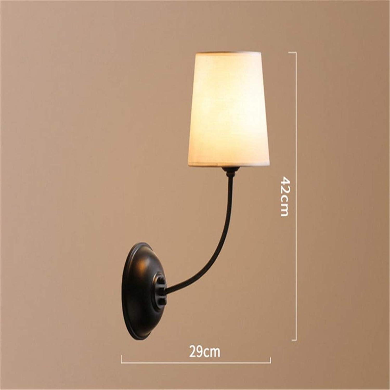 Chandelierwall Wandleuchte Wohnzimmer Amerikanische Rustikale Schlafzimmer Nachttischlampe Wandlampe Nordic Wohnzimmer Wandleuchten Eisenlampen Einzelwandleuchten [Energieklasse A ++]