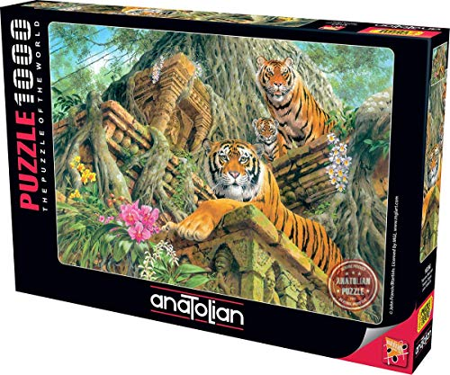 Anatolian 1000Piece Jigsaw Puzzle - Temple Tigers Jigsaw Puzzle