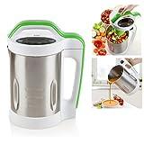 Domo DO499BL Cocedor de sopa, 400 W, 1.7 litros, 20 Decibelios, Acero inoxidable 18/8, plateado, blanco y verde