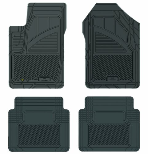 Koolatron Pants Saver Custom Fit 4 Piece All Weather Car Mat for Select Ford Fusion Models (Black)