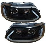 Scheinwerfer schwarz T5 Facelift 09-15 Tagfahrlicht dynamischer Led Blinker Laufblinker