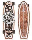 Santa Cruz Skateboard Complete Floral Decay Shark Cruiser Brown...