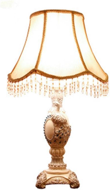 OOFWY E27 Pfau Tischlampe Schlafzimmer Wohnzimmer Nachttischlampe Garten Stil Luxus Prinzessin Hochzeitsraum Dekorative Leuchten, c B074CSPV95     | Zuverlässige Leistung