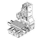 GOWE Máquina herramienta desnuda máquina fresadora CNC marco fresadora vertical BT30 caja de husillo base de hierro