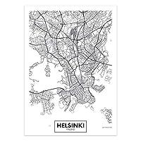 アートポスター 世界の市街地図キャンバスウォールアートオランダトルコアイスランドシティポスターとプリントリビングルームの家の装飾のための装飾的な写真 (Color : 17, Size : 21x30cm No Frame)