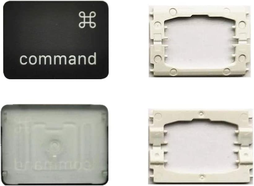 Replacement Individual Left Command Key Cap and Hinges are Applicable for MacBook Pro A1706 A1707 A1708 Keyboard to Replace The Left Command Key Cap and Hinge