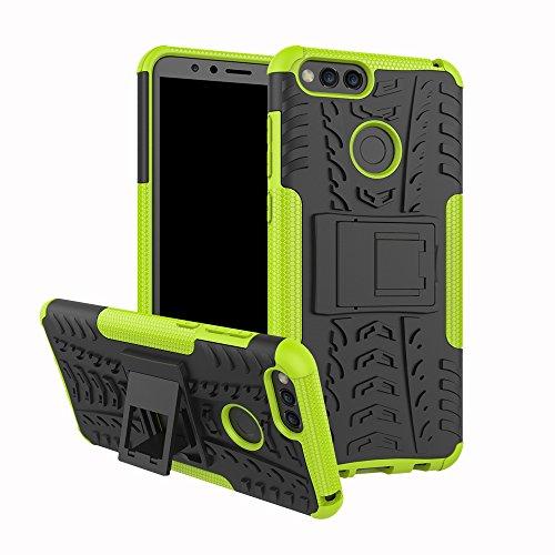 XINYUNEW Funda Huawei Honor 7A/Y6 2018, 360 Grados Protective+Pantalla de Vidrio Templado Caso Carcasa Case Cover Skin móviles telefonía Carcasas Fundas para Huawei Honor 7A/Y6 2018-Verde