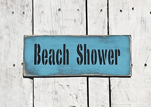 cwb2jcwb2jcwb2j Beach Shower Sign Bathroom Signs Bathroom Accessories Funny Bathroom Art Coastal Wall Art Beach Signs Beach Wall Decor Beach House Decor Art