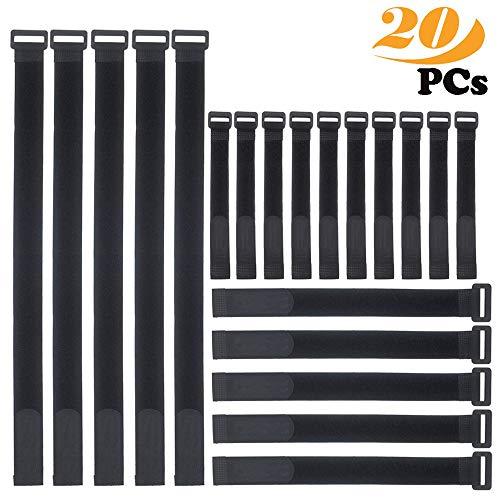 Fascette cavi,ZoneYan 20pcs fascette per cavi riutilizzabili fissaggio filo organizzatore corda cavo titolare