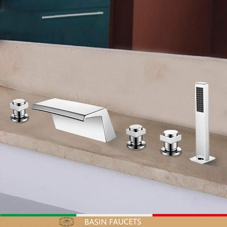 WHFDRHHS Bad Wasserhahn Bad Wasserfall Deck Mounted Mixer Shower