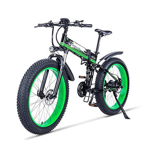 SHIJING Bicicleta eléctrica 1000W eléctrica Bici de la Playa 4.0 Fat Tire...