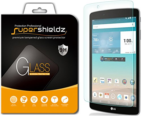 Supershieldz for LG G Pad F 8.0 and LG G Pad F 8.0 (2nd Gen) Tempered Glass Screen Protector, 0.33mm, Anti Scratch, Bubble Free