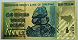 Aveshop Hobbies and Games Banknote Zimbabwe 100 Trillion Dollar - 24K Gold Foil Note (Foreign, Currency, Uncirculated)