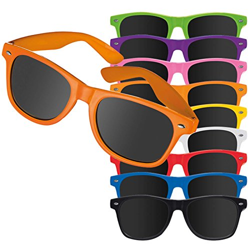 500 stück violette Sonnenbrillen Mila mit Druck Werbung Logo bedrucken