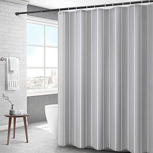 Peng Sounder-hm Duschvorhänge Grau Duschvorhang Gestreifte Wasserabweisend schimmelabweisend Badvorhang Polyester Stoff Duschvorhänge for Nassraum für Badezimmer (Farbe : Grau, Größe : 120x180cm)