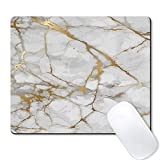 Galdas Mouse Pad Mousepad Non Slip Rubber Gaming Mouse Pad Rectangle Mouse Pads for Computers Laptop (Marble Gold)