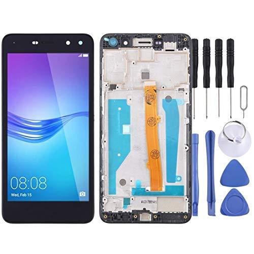 H-HX Display Reparaturset, LCD-Bildschirm und Digitizer Vollversammlung mit Rahmen for Huawei Y5 (2017) (Schwarz) (Color : Black)