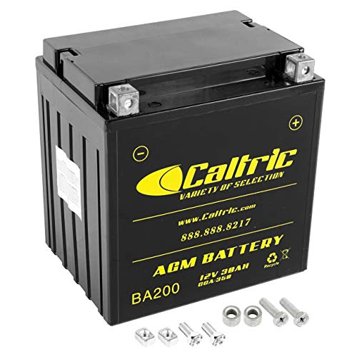 Caltric compatible with Agm Battery Harley Davidson Flhtcui Ultra Classic Electra Glide 1997-2006
