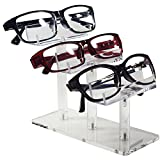 "Mooca 3 Tier Acrylic Eyeglasses Frame Stand, Sunglasses Rack, Sunglasses Stand Acrylic Sunglasses Display, Sunglasses Rack Holder, Acrylic Glass Display, 5""H"