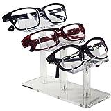 "Mooca 3 Tier Acrylic Eyeglasses Frame Stand, Sunglasses Rack, Sunglasses Stand Acrylic Sunglasses Display, Sunglasses Rack Holder, Acrylic Glass Display, 5""H"
