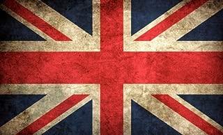 American Vinyl Vintage Union Jack Flag Sticker (UK Britain British London Old)