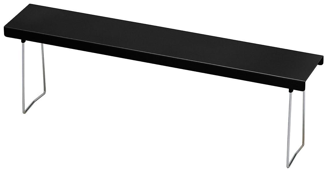 おしゃれじゃないアカウント探偵伸晃 キッチンラック ブラック サイズ:約58×11×18cm BC-KSGBK