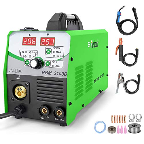 MIG Welder Flux Core IGBT Inverter Reboot RBM2100D Automatic Feed Digital Lift Tig Arc Stick Mig Welding Machine 110V/220V Solid Wire Gas/Gasless Supports 2lbs/10lbs. Buy it now for 319.99