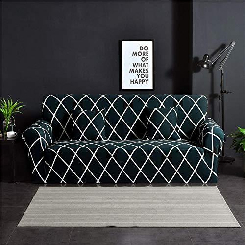Living Room Sofa Covers Polyester Fabric Stretch Slipcovers,Stretch-Sofabezug mit Waffeldruck, Antifouling-Schutzbezug für Ganzjahresmöbel, Rutschfester Sofakissenbezug mit Vollbezug - Farbe 5_145-18