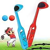 Mario Golf Palo para Switch con 2PCS Joystick Cap, Switch Golf Palo para Mando con Tira Manual y ZL&ZR Prensado, Mini Golf Palo para Mando para Mario Golf: Super Rush -2 Piezas