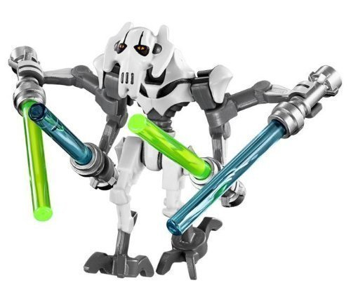 LEGO Star Wars - General Grievous WHITE minifigure 2014 by LEGO TOY (English Manual)