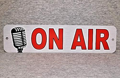 Metalen bord Op Air Radio Show Station Uitzending Live Nieuws Uitzenden Televisie Journalistiek Deur Studio Microfoon Man Grot #3,Vintage Aluminium Metalen Tekenen Plaque Wall Art Poster 12