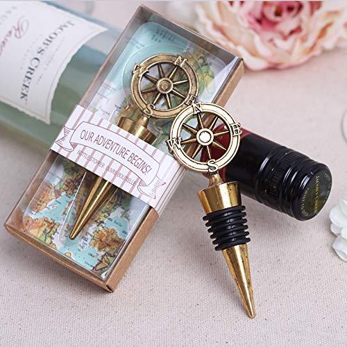 20x abridor de garrafa de vinho de bússola náutica para chá de panela de casamento