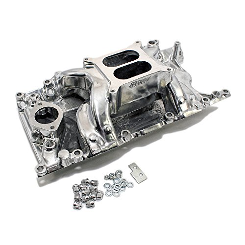 Assault Racing Products PC5025 for Small Block Chrysler/Plymouth/Dodge Dual Plane Polished Aluminum Intake 1500-6500 RPM SBM 318 340 360