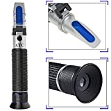 Salinity Refractometer for Seawater and Marine Fishkeeping Aquarium 0-100 PPT with Automatic Temperature Compensation